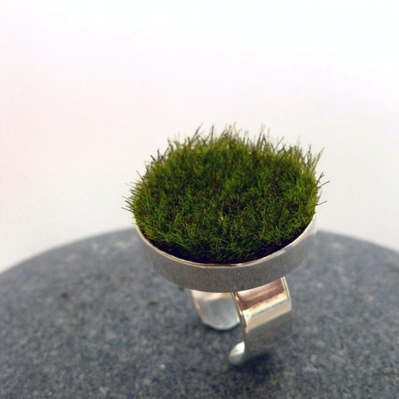 Gather, Circle Moss Ring