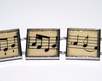 Music Note Bracelet made with Vintage Sheet Music by The Bookish Life