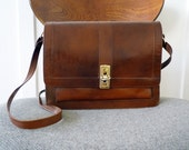 On Hold for Wistitii-  Vintage brown turnlock purse