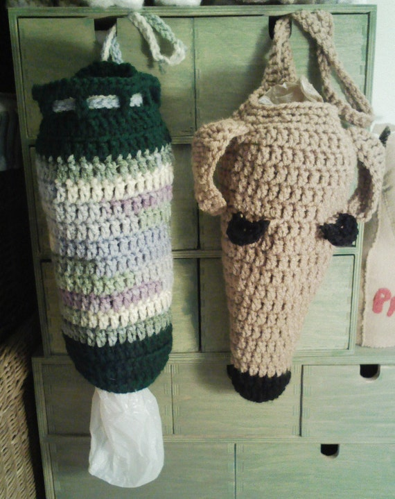 Crochet Bag Pattern Design : Items similar to Greyhound Poop Bag Holder and Plain ...