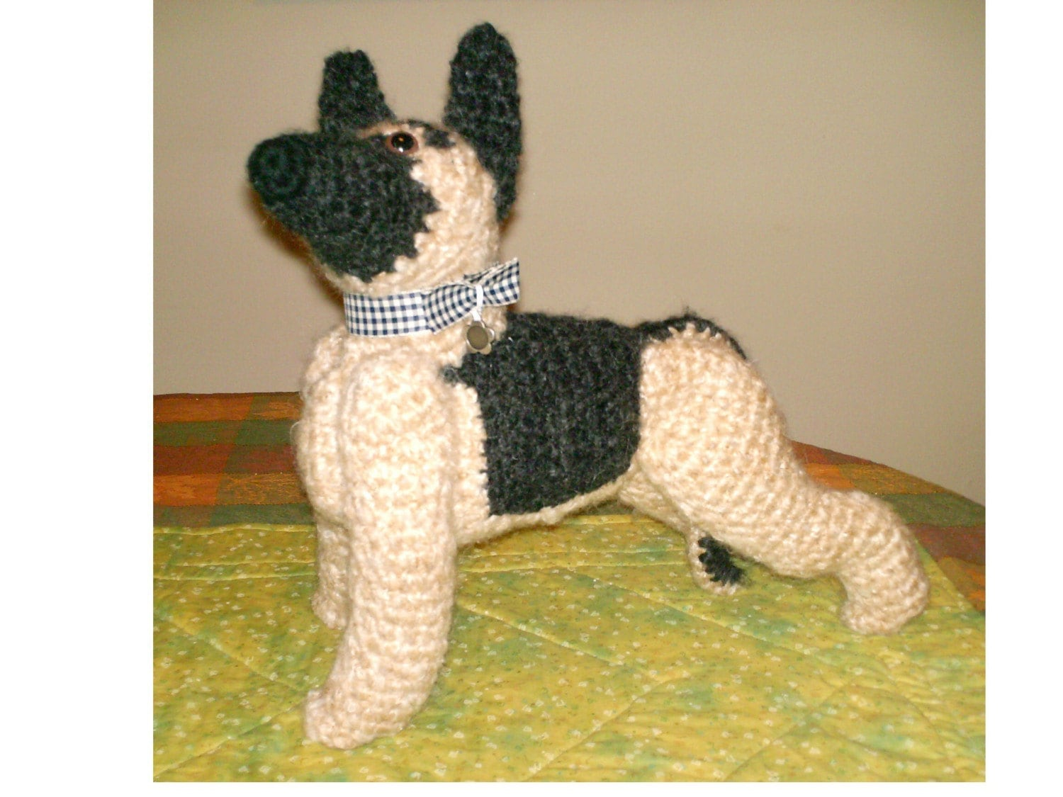 German Shepherd Tiny Crochet Miniature Dog Stuffed Animals |Crochet German Shepherd