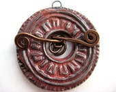 Rustic Indian Print Toggle Clasp