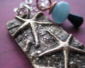 RESERVED Bronze Starfish Hand Stamped Adoption Necklace Not Under My Heart But In It