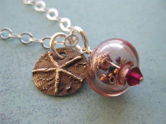 The Starfish Story Adoption Symbol Bronze And Sterling Silver Necklace With Hollow Glass Bead