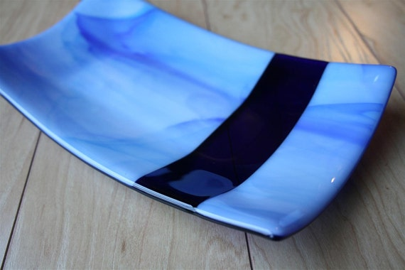 Cloud Dreamer Fused Glass Tray