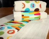 Summertime boutique burp cloth set