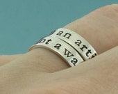 I am an artist   Not a                  - custom made sterling silver ring set by Kathryn Riechert