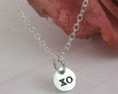 XO charm -- Les Petites Collection -- sterling silver necklace by Kathryn Riechert
