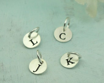 Letter Charm La Petite - choose the letter or initial of your choice -- custom made in sterling silver by Kathryn Riechert
