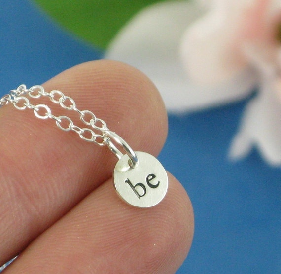 Be Necklace - Les Petites Collection - in sterling silver by Kathryn Riechert