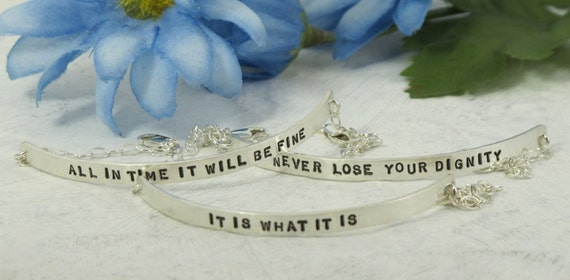 Posey Bracelets -adjustable-  Choose your favorite phrase or customize your own