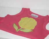 Dark Pink Flower Tee - Size 4T - SALE