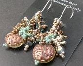 Spiraled Fringe Earrings