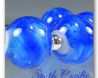 DarleenMB ~ South Pacific ~ 6 artisan handmade lampwork beads