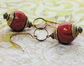 Cinnamon Sensation Red Earrings