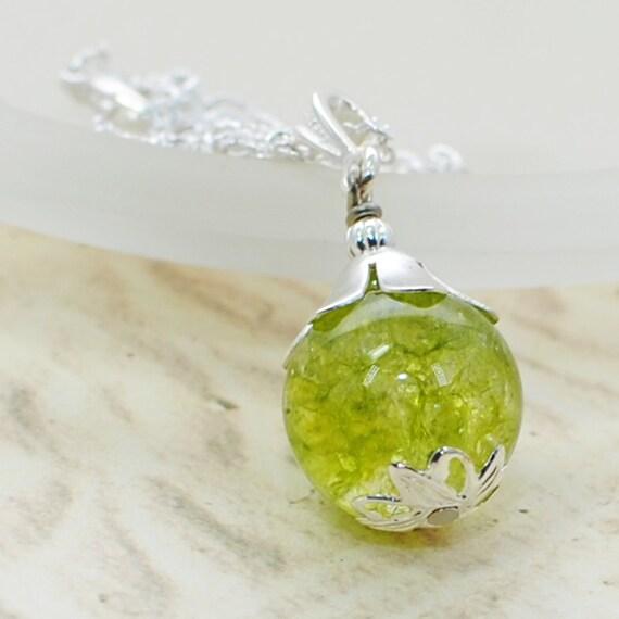 Twist of Lime Crystal Pendant