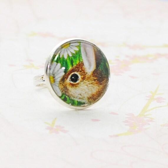 Daisy Rabbit Bunny Ring