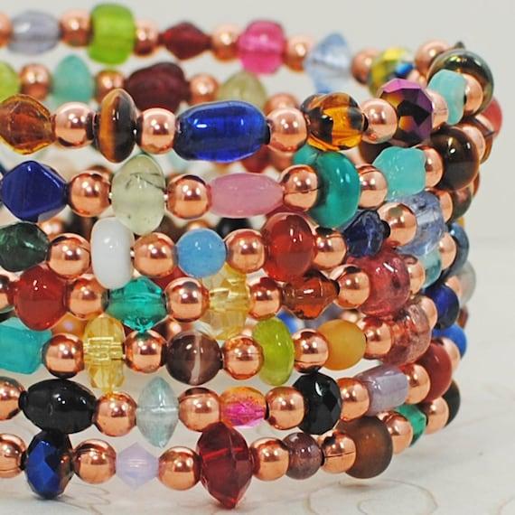 Colorful Wraparound Bracelet Cuff Rainbows of Light