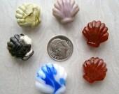 She Sells Sea Shells Artisan Made Lampwork Glass Bead Lot