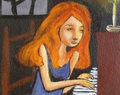 Stacey And The Piano - A Small Painting