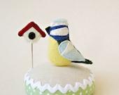 Blue Bird Pincushion