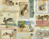 Fabric Fat Quarter: Hares & Rabbits