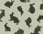 Fabric Fat Quarter: Rabbit Silhouette