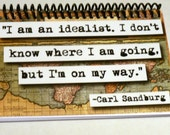 Carl Sandburg Quote Notepad