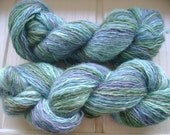 Handspun Hand dyed Alpaca Silk Corriedale