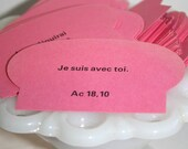 Pink French Bible Verse Cards -Pack of 10