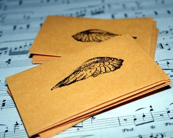 Wing Walnut Ink Stamped Business Card Envelope- Package of 20