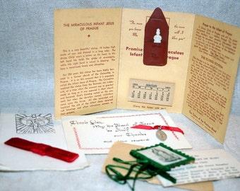 Vintage Religious Momentos or Offerings- Roman Catholic Dieties, Prayer Reminders