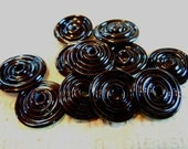 Dirty Dozen Lampwork Disc Beads in Black