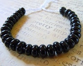 Lampwork Spacer Beads in Black