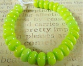 Lampwork Spacer Beads in Lime