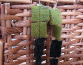 Upcycled Felted Wool Art Earrings