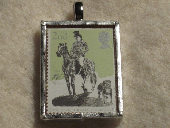 Postage Stamp Pendant - Jane Eyre