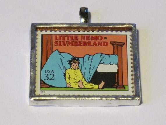 Postage Stamp Pendant - Little Nemo in Slumberland