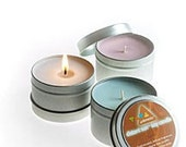 4 elements premium soy candle- ocean scented travel tin