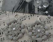 Coline - Grey anthracite crochet earrings