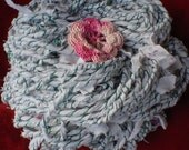 Granny's Old Nightgown - recycled handspun yarn