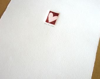 Heart - intaglio acid line etching