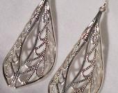 TOP SELLING silver vintage filigree drop earrings
