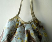 SALE - Blue Yellow Floral - Granny Bag