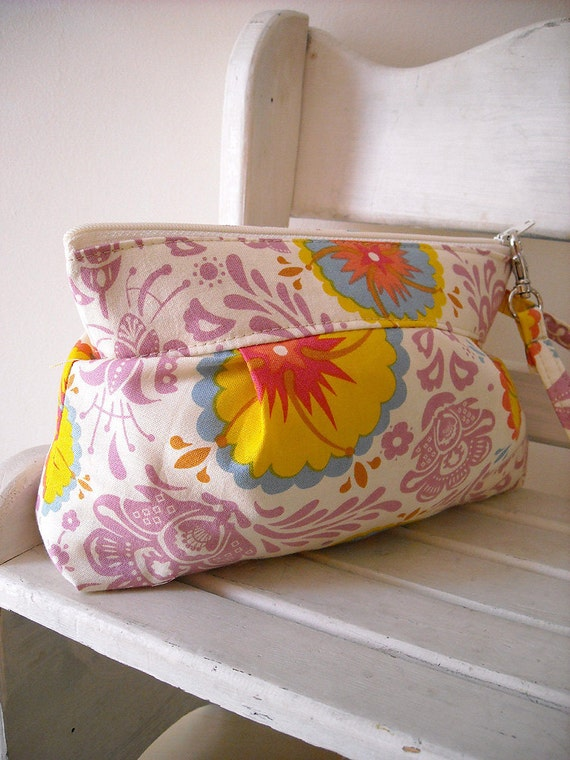 SALE - Summer - Zipper Pouch with Clip