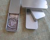 5 slide top tins - moo holder