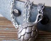 Artichoke Necklace - vintage Lucite charm
