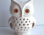 Owl Lamp Vintage Design In White Ceramic TV Lamp Night Light Retro Home Decor Great House Warming or Owl Baby Shower Gift