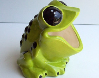 Tree Frog, Sponge holder, Scrubby Holder, Brillo pad holder, Ceramic Frog, Apple Green, Home Kitchen Decor, Frog Gift, Poison Dart Frog