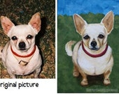 Commissioned Portrait Art Pet Dog Cat Custom Painting Acrylics